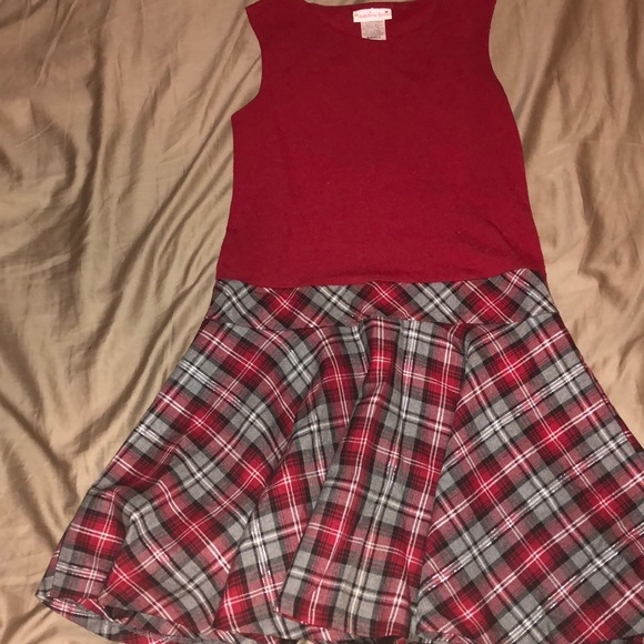 red christmas plaid dress with sweater for girls - Christmas Plaid Dress